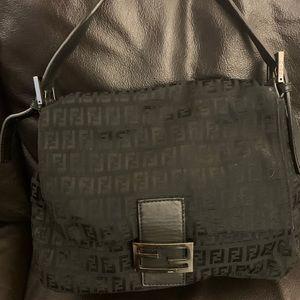 Fendi Auth Hobo Bag *Black* W Leather Strap